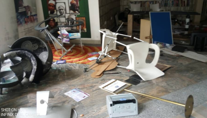 Angry Protesters Vandalize Azaiki Library In Bayelsa State