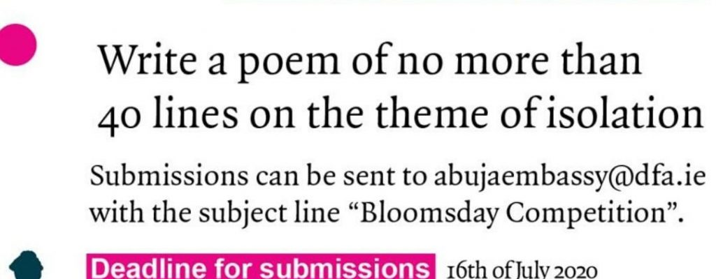 Bloomsday Writing Competition 2020